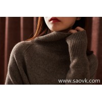 の[ZY158809VG] Xiaohan Pavilion Mellow and warm winter! Pure foot yak velvet tube collar irregular sweater