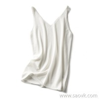 の[ZY158106MG] anti-savior savior TE fine skin care Merino gold wool V-neck vest