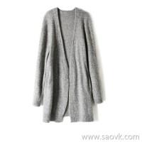 の[W564436] 笑涵阁 Stylish and wearable and good-looking baby mohair long cardigan coat