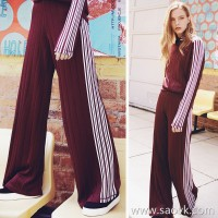 Small insects, second, big, long legs, casual, high waist, sports, wind, loose, loose, knitted, wide-leg pants