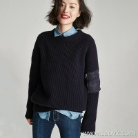 Small insects casual simple lazy wind loose long sweater sweater top 2020 new winter clothing