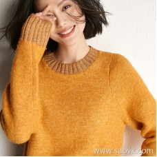 Small worm designer casual lazy metal line loose hood knit sweater top female 2018 new winter clothing