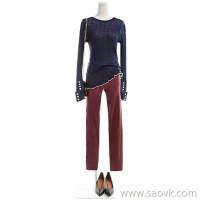 [2 pieces 499 yuan] bugs Italy imported yarn wild pearl New Slim pullover knit bottoming shirt women
