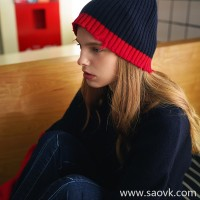 Small insects, bright eyes, bold color, personality, serrated, delicate, pit, knit hat, female TE8QA5001