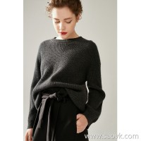 [Three pieces, 20% off] bugs, Italian yarn, woollen cashmere, puff sleeves, silhouette sweater