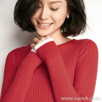 Small insects, warm winter, super fire, wild pits, color matching, wool, slim, pullover, sweater, bottoming shirt, women