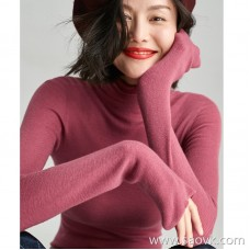 Small insect high collar sweater black bottoming shirt female long sleeve autumn slim sweater sweater thin 2018 new shirt
