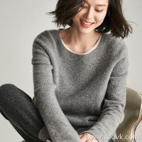 [Three pieces and 20% off] bugs Italian high-end yarn spinning elastic cashmere yarn Round neck sweater winter clothes
