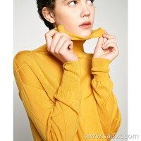 Small worm-shaped crocheted flower head high-necked knit wool bottoming shirt female long-sleeved slim sweater top winter