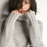 [Three pieces and 20% off] bugs Italian high-end yarn Cashmere point yarn Knitted wool tops Women's winter clothing