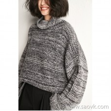 Bug wrapped in warm lazy wind loose casual high neck sweater sweater top 2020 new autumn and winter