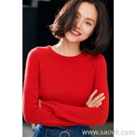 Small insects imported Italian cashmere basic rib round neck was thin bottoming sweater women autumn and winter new