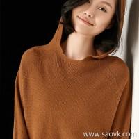 Small worm seamless knit hood warm wild wool cashmere sweater sweater shirt female 2018 new