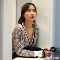 Sweater Cardigan Women's Autumn and Winter 2018 Loose Retro Korean Short V Collar Plaid Contrast Knitted Knit Jacket