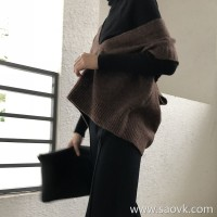 Sweater vest vest female 2018 new autumn and winter Korean version of the loose short paragraph head large V-neck sleeveless knit top