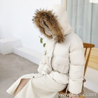 Bread service female short paragraph 2018 winter Korean version ins net red with the paragraph thickened fluffy cotton jacket small hooded cotton coat