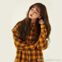 Yellow plaid shirt female loose Korean version 2019 spring new Hong Kong flavor bf student plaid shirt female oversize