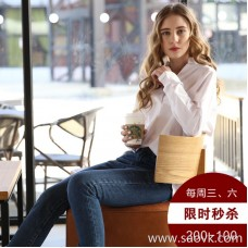 [Surrounding one] white shirt female 2017 spring and autumn new loose long-sleeved wild winter bottoming shirt