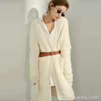 Limited] Peruvian JIN alpaca soft as cotton candy solid color sweater cardigan coat (2 colors