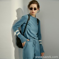 Limited edition] word of mouth cashmere series sports style fashion wear pure cashmere knit suit (4 colors
