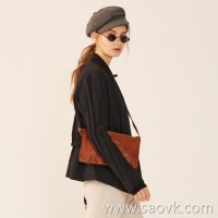 Limited] small designer emphasizes small and fine washed sheepskin fashion cool bag (3 colors