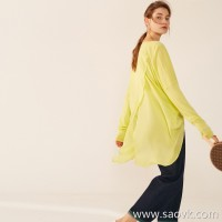 Limit special] Do not return without change Lazy casual beauty Cashmere + silk Loose top (2 colors