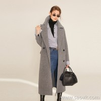 Limited special) 狠 goods shop reputation JIAN end series upgraded version of the fabric cashmere long woolen coat 2 colors