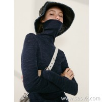 Limit special] fist base series! Merino wool yarn exquisite ladies high neck pullover sweater (