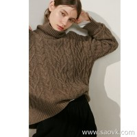 Limited special beauty close-up high-end homemade warm thick pure yak velvet twist sweater 4