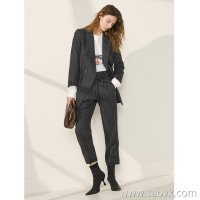 Limited edition) Limited CHI pure tail Workplace elite high-grade wool ladies casual small suit jacket (2 colors