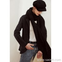 Limited] MISS HE high-end master fine cut Italian virgin wool knitted soft wool short suit