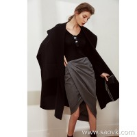 Limited special] limited edition! Temperament goddess senior gray elegant pleated skirt
