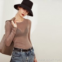 Limited special] inexpensive! Beautiful small perspective pure wool delicate bottoming shirt sweater 3 colors