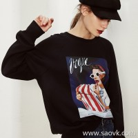 Limited edition] running volume recommended cost-effective soft and comfortable fashion print sweater (3 colors)