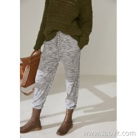 Limited specializes in ten-year fist knitting series Thick merino wool closing yarn knit pants 3 colors