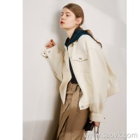 Limited special) MISS HE high-end master fine series love bursting Italian JIN mouth Q bomb wool coat