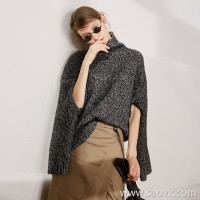 Special] beautiful large wardrobe high-end homemade CHAO value feedback pure yak velvet two wearing high collar sweater