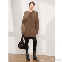 Limited special) Plus thickening Soft and comfortable pure ox wool large pocket dress 3 colors
