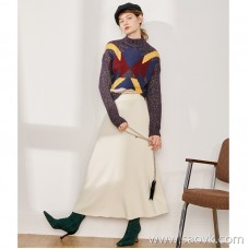 Limited special beauty big wardrobe high-end homemade fist pure yak velvet double-grain road ladies A word skirt