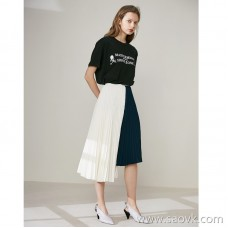 Limited special 】 thickening! 360-degree pleated contrast color skirt that can be turned around. Women's casual skirt
