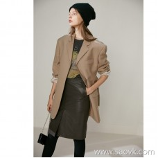Limited edition) MISS HE high-end series Scarce leather only for a XIAN luxury CHI leather leather skirt