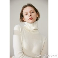 Limited special] fist cashmere to give you a classic soft soft cashmere high collar long sleeve pullover sweater
