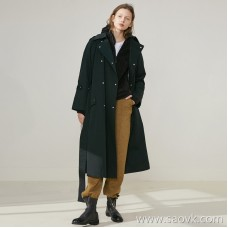 Limited special] pure tail thick high density autumn and winter windproof warm long windbreaker cardigan coat (2 colors
