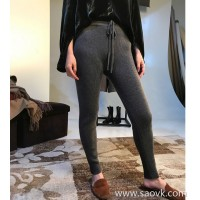 Limit special] Explosive models turn single fist cashmere self-retained five recommended thickening pure cashmere leggings Women's pants (3 colors