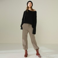 Limited pre-special] soft and comfortable thick and thin three-dimensional keel stripes dotted with wild sacred knit wide-leg pants 5