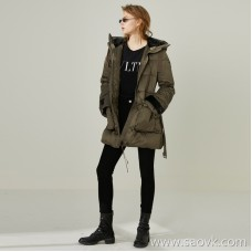 Limited] for the factory clearance classic + small luxury fur hat decorated casual down jacket (3 colors