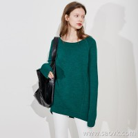 Limited specializes in the ten-year series Heavy-duty keel edging thick merino wool round neck sweater (5 colors)