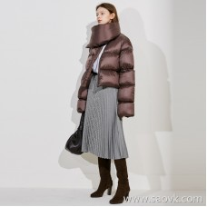 Limit special] Both shopkeepers are self-staying and love to recommend! Extremely warm big collar round solid color goose down jacket