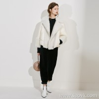 Limited special soft and delicate Icelandic sheep fur + down stylish warm goose down jacket (3 colors)