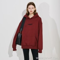 Limited special) high-end homemade thick plus velvet couple models embroidery hooded sweater 4